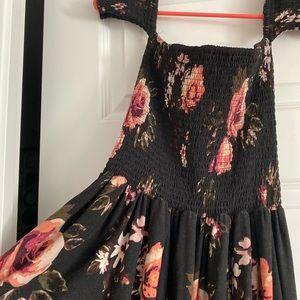Long floral maxi dress